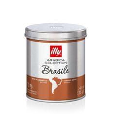 illy kava Brazilija, mleta, kofeinska, 125 g