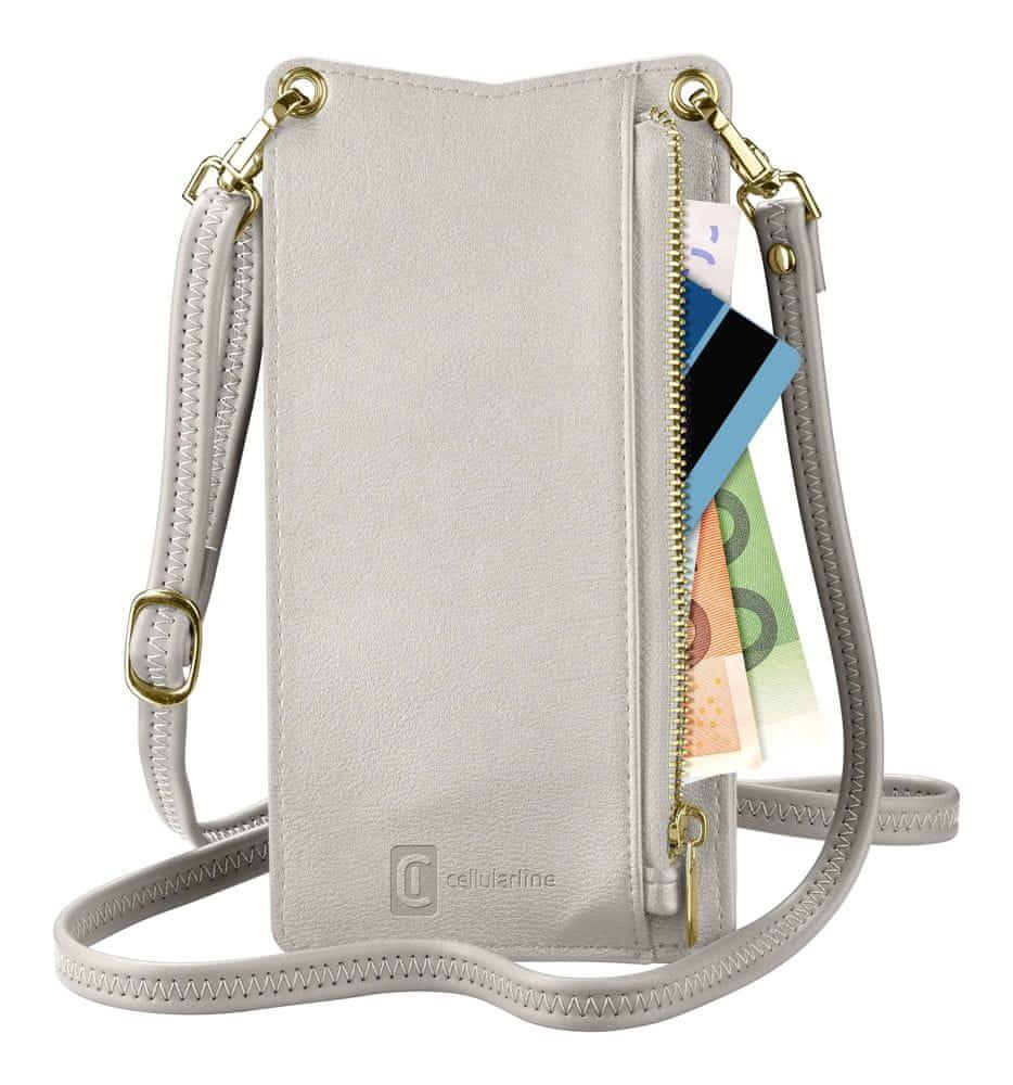 FIXED Pouzdro na krk Mini Bag pro mobilní telefony MINIBAGW, bílý