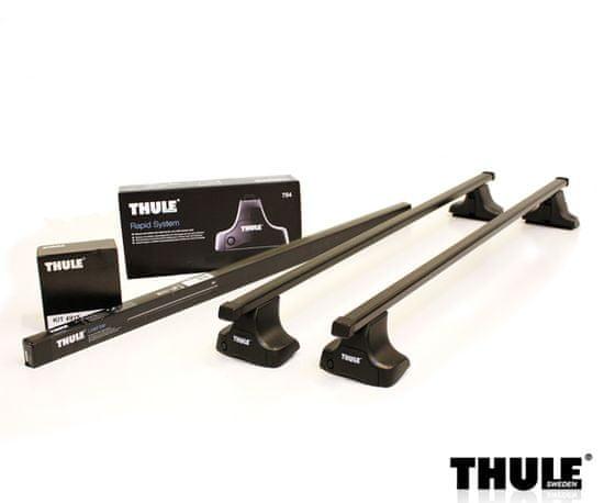 Thule  Evo SquareBar lacný oceľový strešný nosič Nissan Qashqai 2014- rovná strecha