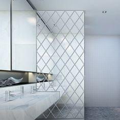 Netscroll Zrkadlové nálepky v tvare diamantu, ktoré rozžiaria a osvetlia každú miestnosť, DiamondMirror