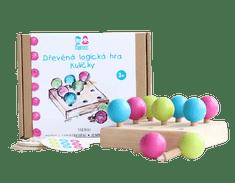Mamiee Dřevěná logická hra - Kuličky