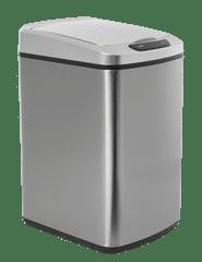 iQtech Deodorizér 10 l, odpadkový koš bezdotykový, hranatý, stříbrný