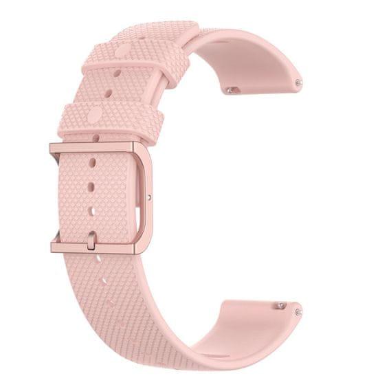 BStrap Xiaomi Amazfit GTR 42mm Silicone Rain szíj, pink