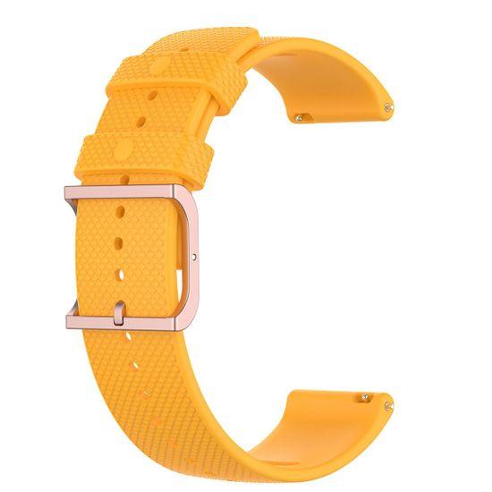BStrap Garmin Vivoactive 3 Silicone Rain szíj, yellow