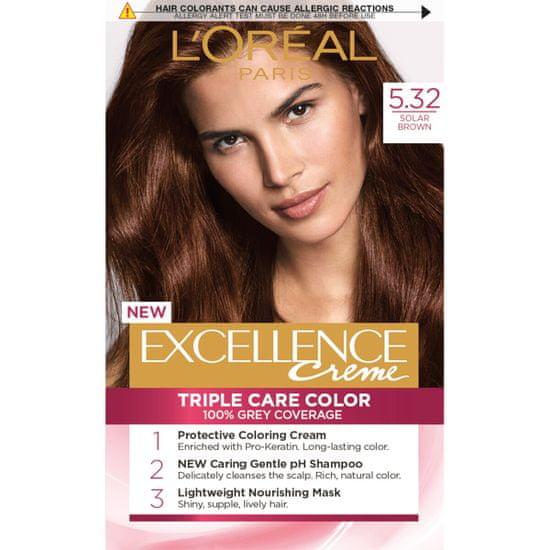 Loreal Paris boja za kosu Excellence, 5.32 Solar Brown