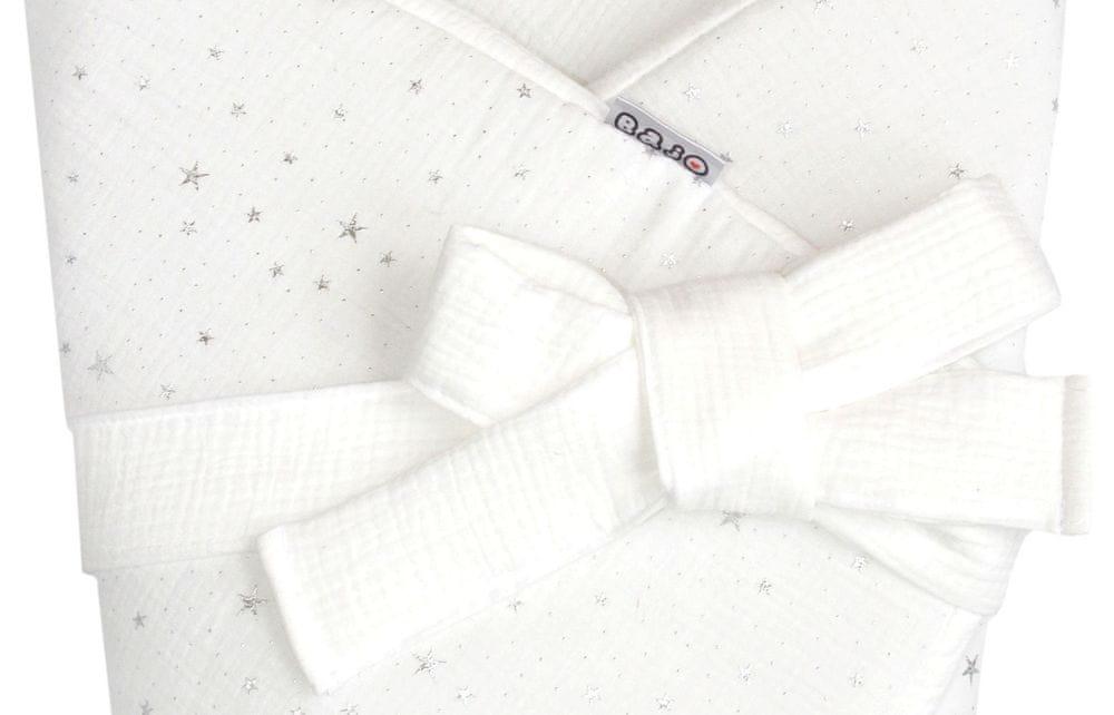 Bajo Zavinovačka MUŠELÍN s mašlí - bílá hvězdy