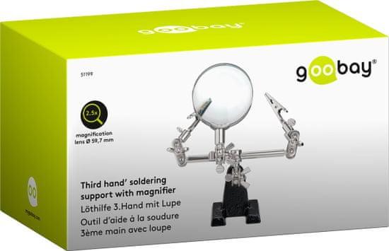 """Fixpoint držiak """"tretia ruka"""" s lupou - pomôcka pre spájkovanie; 51199"""