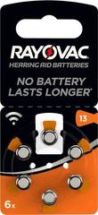 Rayovac PR48/13A - zinc-air batéria do načúvacích prístrojov, 1.4 V - 6ks blister; 4606 945 416