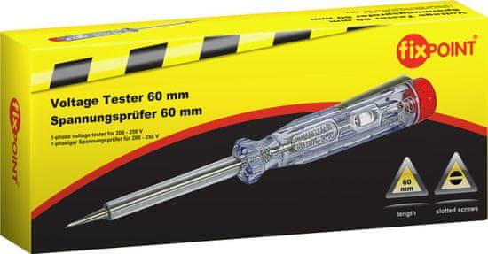 Fixpoint 1-fázový tester napätia pre napätie 200 V až 250 V, 140mm.; 77000
