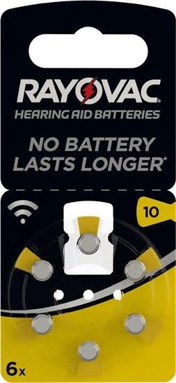 Rayovac PR70/10A - zinc-air batéria do načúvacích prístrojov, 1.4 V - 6ks blister; 4610 945 416