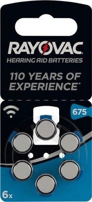 Rayovac PR44/675 - zinc-air batéria do načúvacích prístrojov, 1.4 V - 6ks blister; 4600 945 416