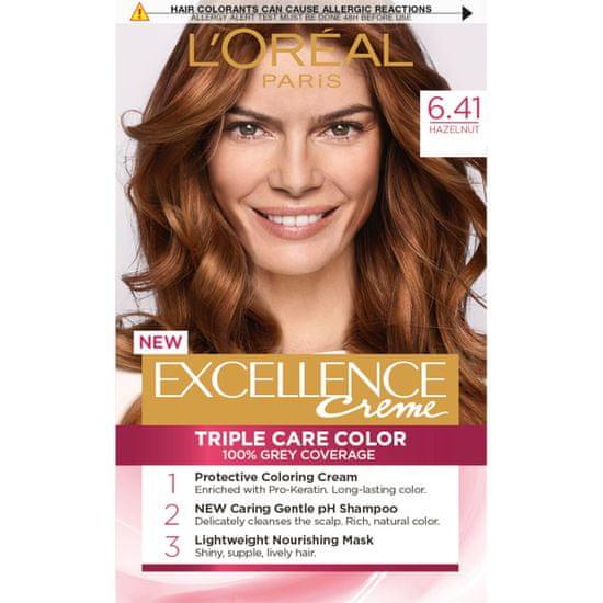 Loreal Paris boja za kosu Excellence, 6.41 Natural Hazelnut