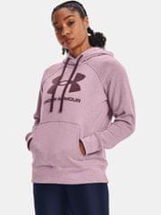 Under Armour Pulover Rival Fleece Logo Hoodie-PNK S