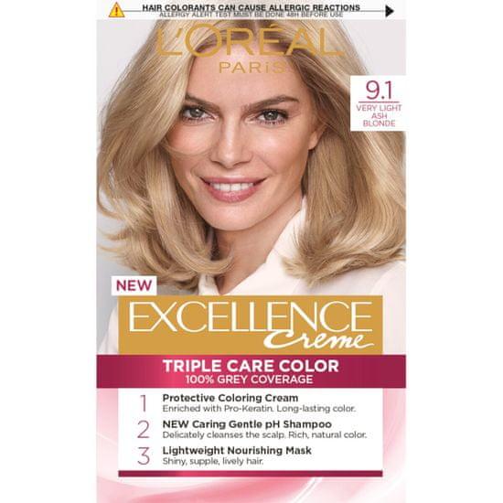 Loreal Paris barva za lase Excellence, 9.1 Very Light Ash Blonde