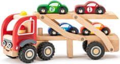 Woody laweta z samochodami wyścigowymi