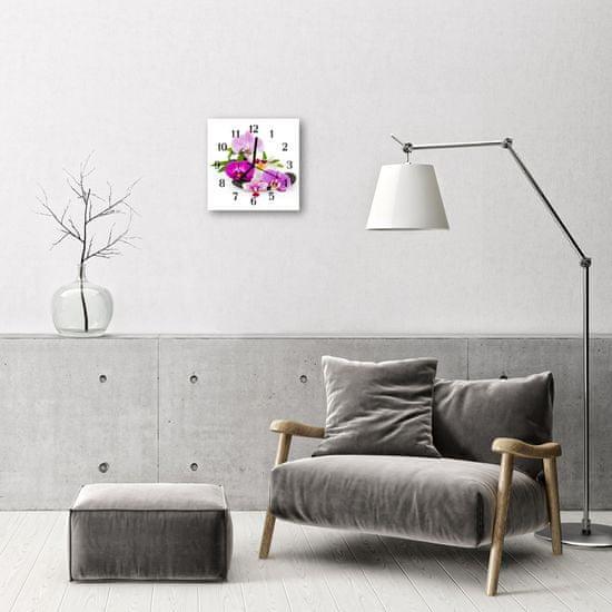 tulup.sk Nástenné sklenené hodiny Orchidea