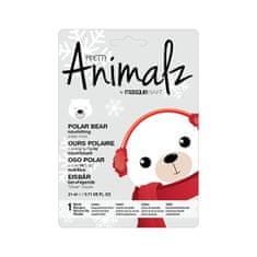 MasqueBAR Vyživujúce plátýnková maska Animalz Polar Bear ( Nourish ing Sheet Mask) 21 ml