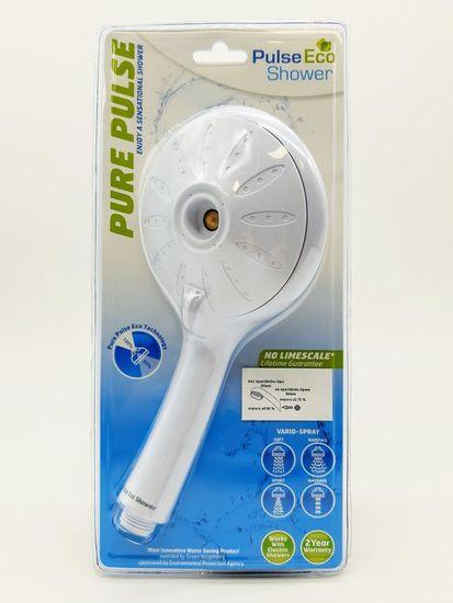 Pulse Eco Biela sprchová hlavica Pulse Eco 6l
