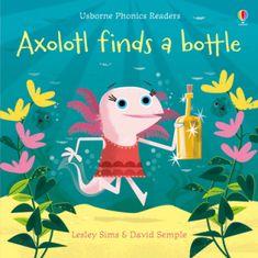 Axolotl finds a bottle
