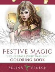 Festive Magic - Fantasy Christmas Coloring Book
