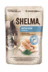 SHELMA SHELMA Cat treska se spirulinou v omáčce, kapsa 85 g