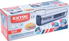 Extol Premium Kompresor akumulátorový, max. 10bar, LED svetlo