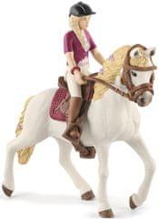 Schleich Blondýna Sofia s pohyblivými klouby na koni