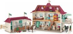 Schleich Velký dům se stájí, příslušenstvím a kloubovými figurkami