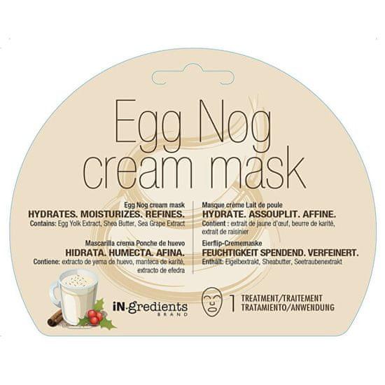 MasqueBAR Hydratačná krémová pleťová maska Egg Nog (Cream Mask) 1 ks