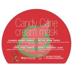 MasqueBAR Čistiaca krémová pleťová maska Candy Cane (Cream Mask) 1 ks