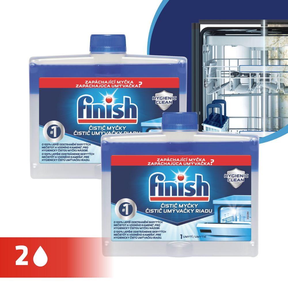 Finish Čistič myčky 2x 250 ml