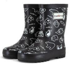 Stonz otroški škornji Rain Boots Print RBSTNZBL, 25, črni