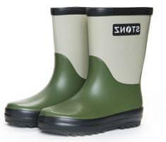 Stonz otroški škornji Rain Boots Duo RBDCYSBL, 25, zeleni