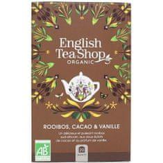 English Tea Shop Rooibos, kakao a vanilka BIO 20 vrecúšok