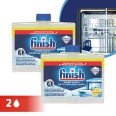 Finish Dual Action Mosogatógép tisztító, Citrom, 2 x 250 ml