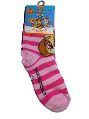 Nickelodeon  Dívčí růžové pruhované ponožky s pejskem Vel:23 - 26