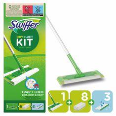 Swiffer Swiffer Sweeper start készlet 1 fogantyúval, 8 porszívóval és 3 tisztító törlőkendővel