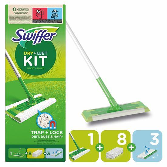 Swiffer Sweeper štartovacia sada s 1 násadou, 8 prachovkami a 3 čistiacimi obrúskami