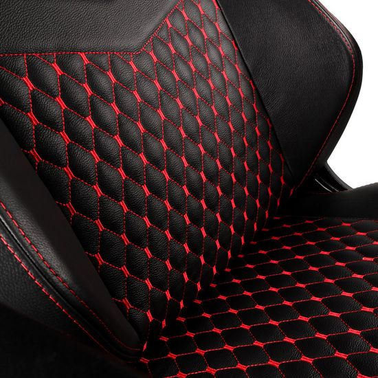 Noblechairs HERO Real Leather, čierna/červená (NBL-HRO-RL-BRD)
