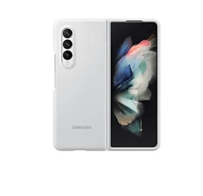 Samsung ovitek za Samsung Galaxy Z Fold3, silikonski, bel