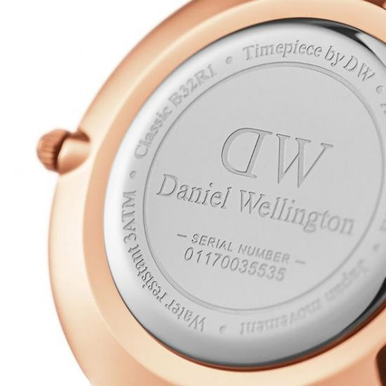 Daniel Wellington CLASSIC PETITE MELROSE ROSE GOLD BLACK 32MM DW00100161