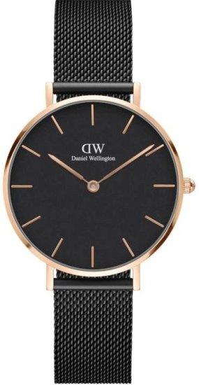 Daniel Wellington CLASSIC PETITE ASHFIELD ROSE GOLD BLACK 32MM DW00100201