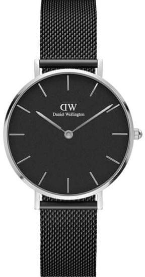 Daniel Wellington CLASSIC PETITE ASHFIELD SILVER BLACK 32MM DW00100202