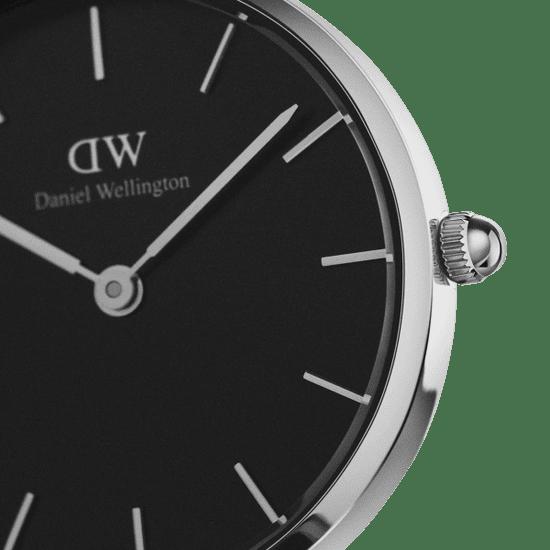 Daniel Wellington CLASSIC PETITE SHEFFIELD 28 SILVER BLACK DW00100236