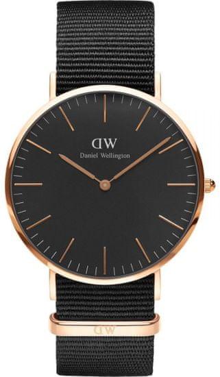 Daniel Wellington CLASSIC BLACK CORNWALL ROSE GOLD - VELKÉ DW00100148