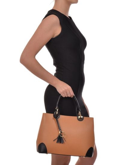 Isabella Rhea Horní taška na rukojeť Isabella Rhea 462 NERO COGNAC