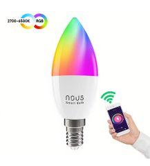 Nous Smart RGBW Žiarovka E14