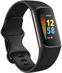 Fitbit Charge 5, Black/Graphite Stainless Steel
