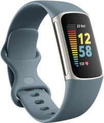 Fitbit Charge 5, Steel Blue/Platinum Stainless Steel