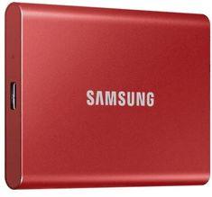 SAMSUNG T7 - 1TB, červená (MU-PC1T0R/WW)